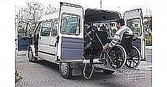 accessible van with a lift