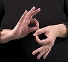 לימוד שפת הסימנים