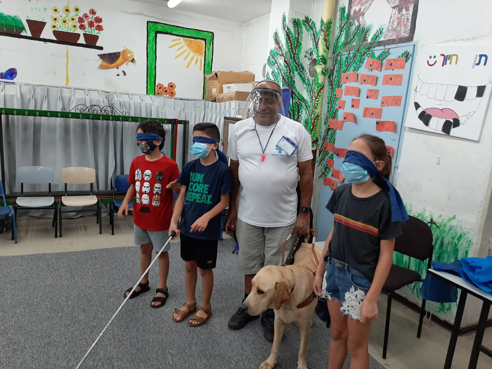 The children experienced what it is like to be blind