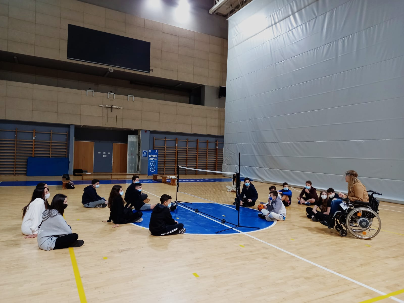 The students learned the rules of the Paralympic volleyball game