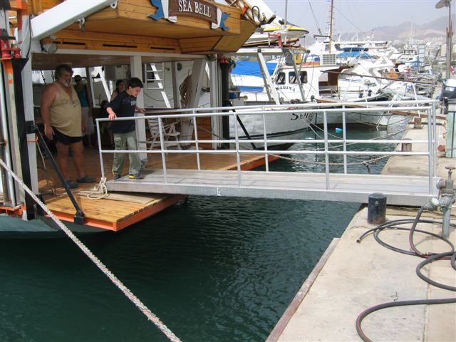 The Seabell's accessible gangway